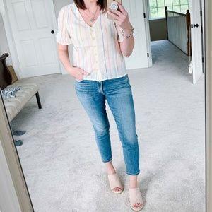 Tory Burch | Mid Rise Super Skinny Jeans